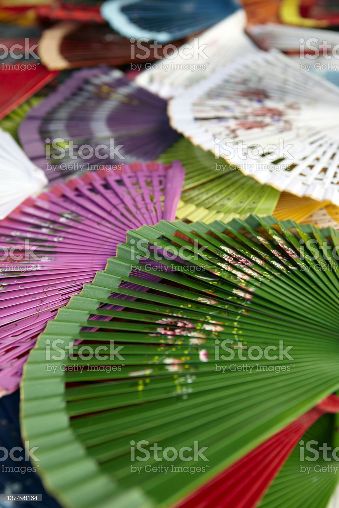 Traditional Spanish Fans royalty-free stock photo