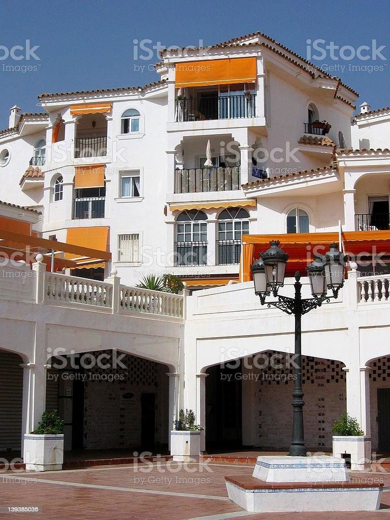 traditional spanish house stock photo