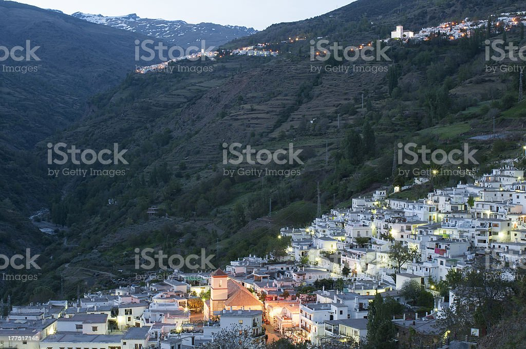 Traditional Spanish village stock photo