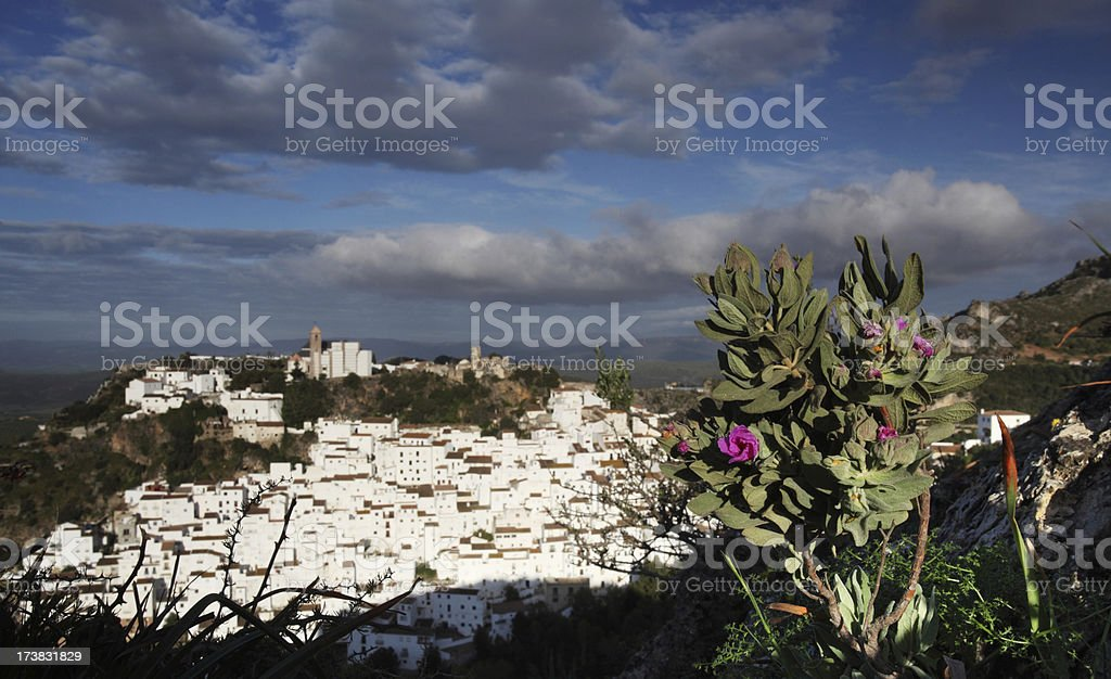 Traditional Spanish white village stock photo