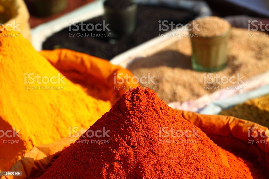 Traditional spices market royalty-free stock photo