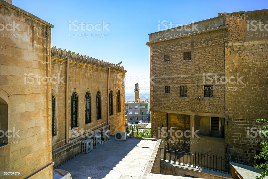 traditional stone houses at middleeastern town of mardin turkey stock photo