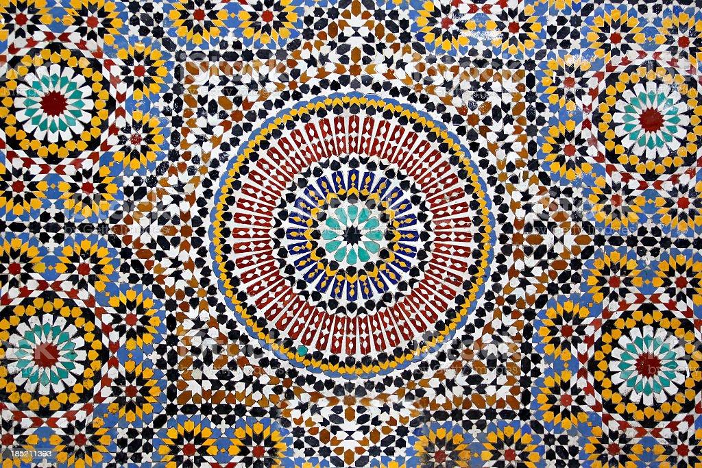 Traditional stone mosaic stock photo