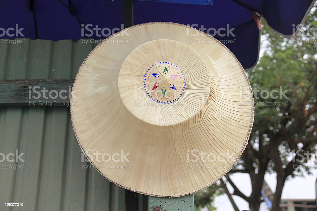 Traditional Straw Hat stock photo