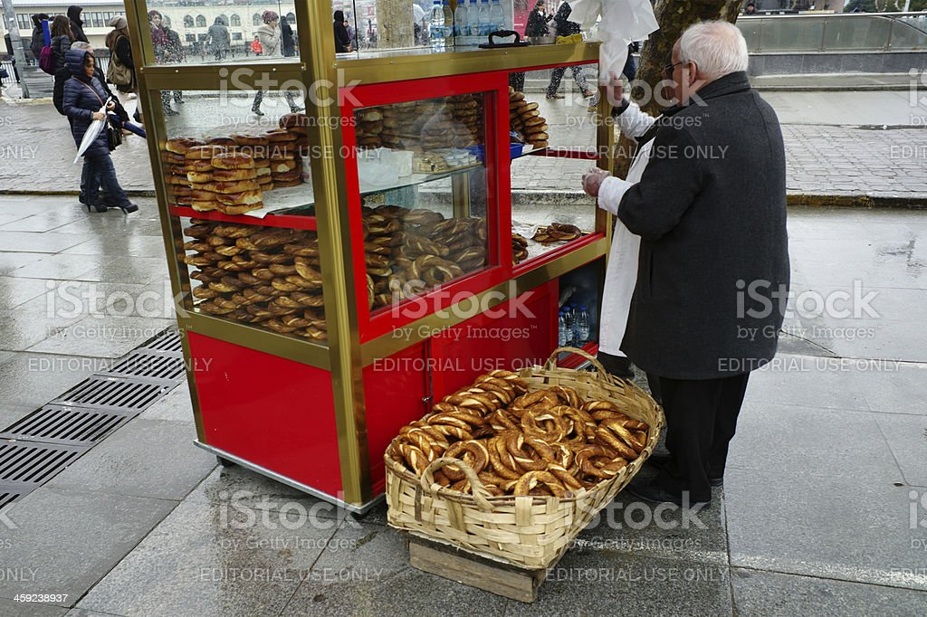 traditional street food stand at istanbul turkey stock photo
