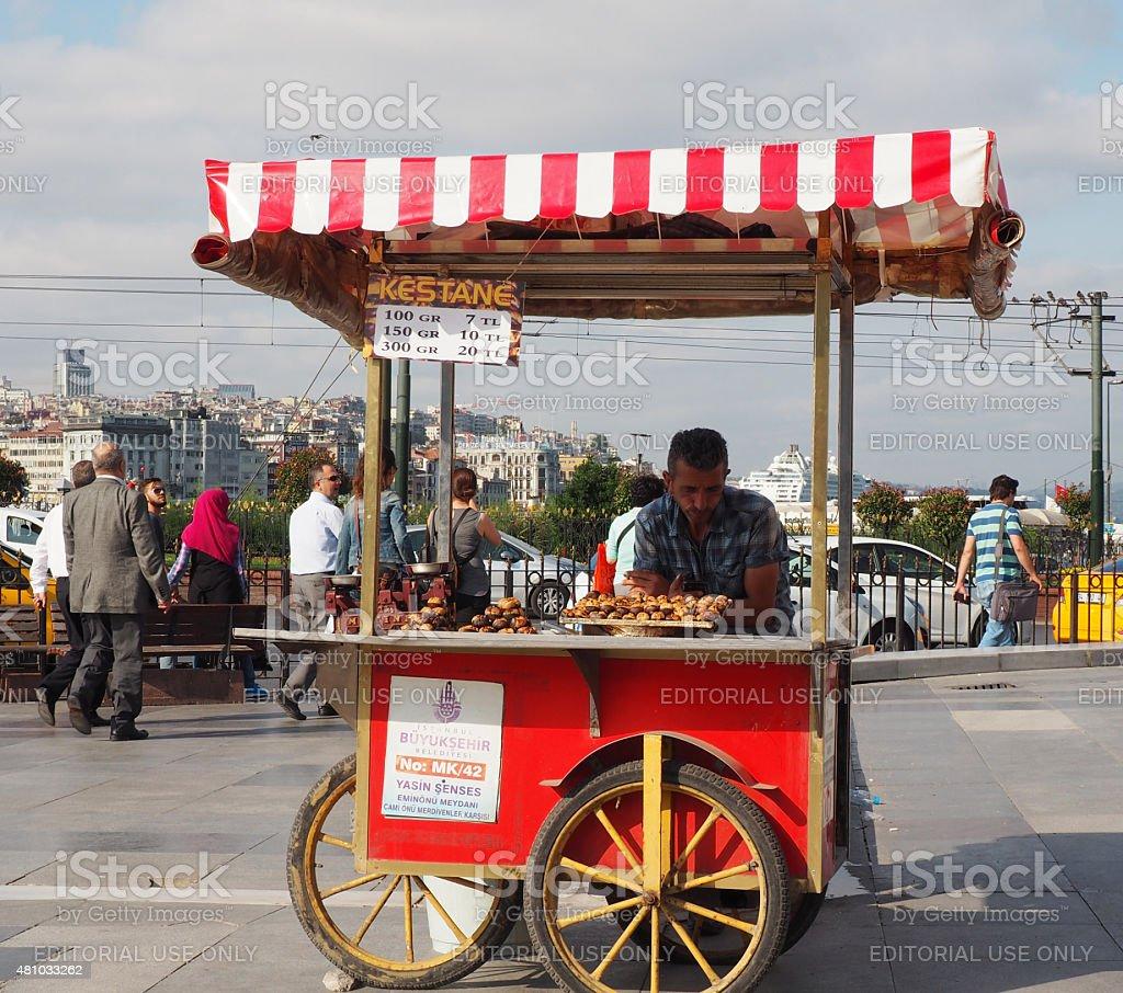 Traditional street food vendor stock photo