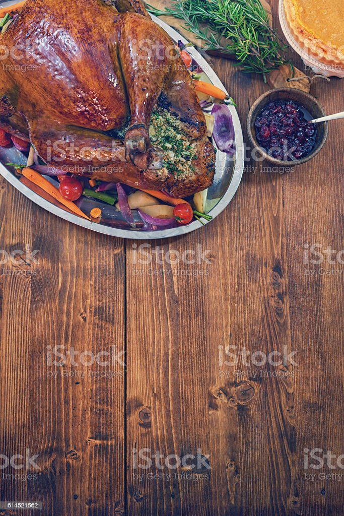 Traditional Stuffed Turkey stock photo