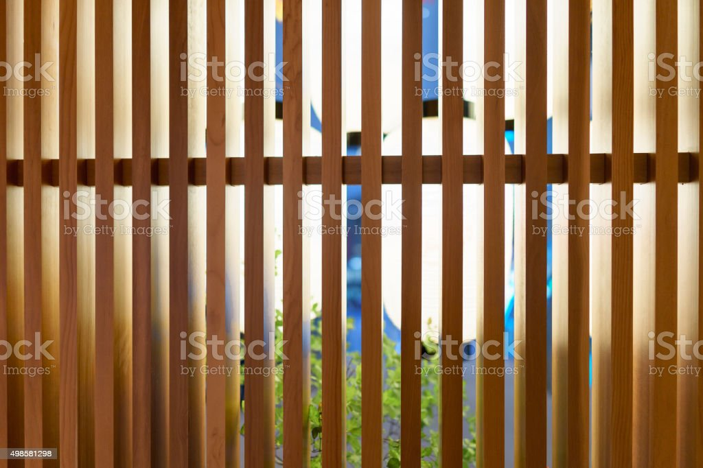 Traditional style brown wood window stock photo