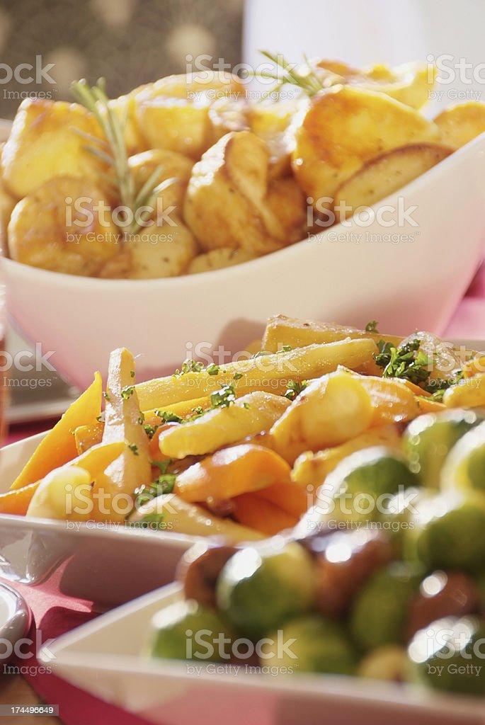 Traditional Sunday dinner stock photo