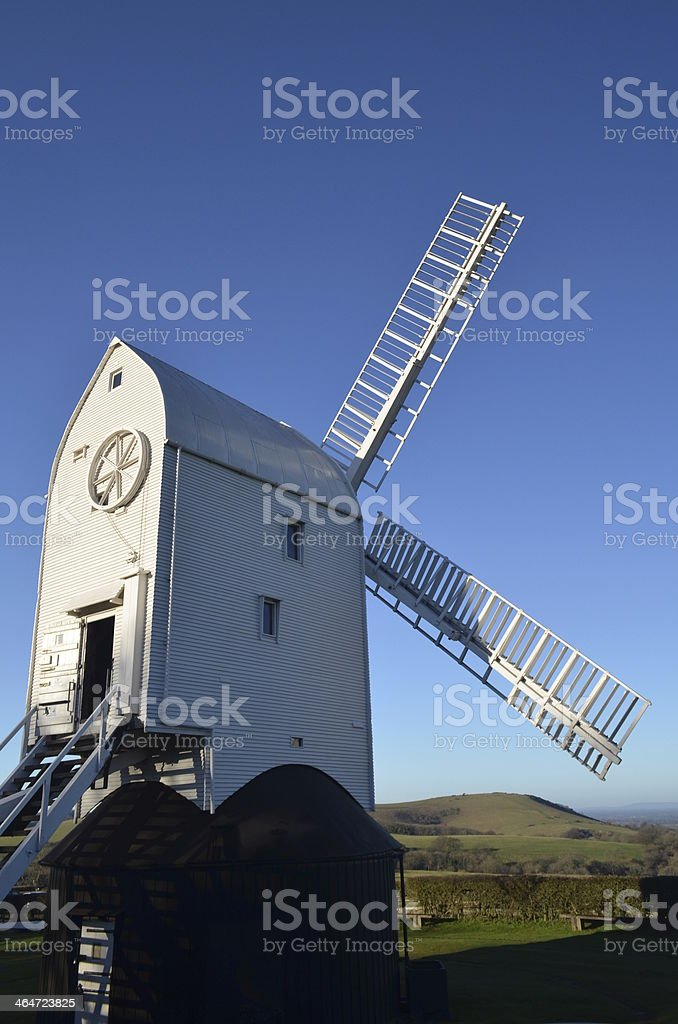 Traditional Sussex Windmill stock photo