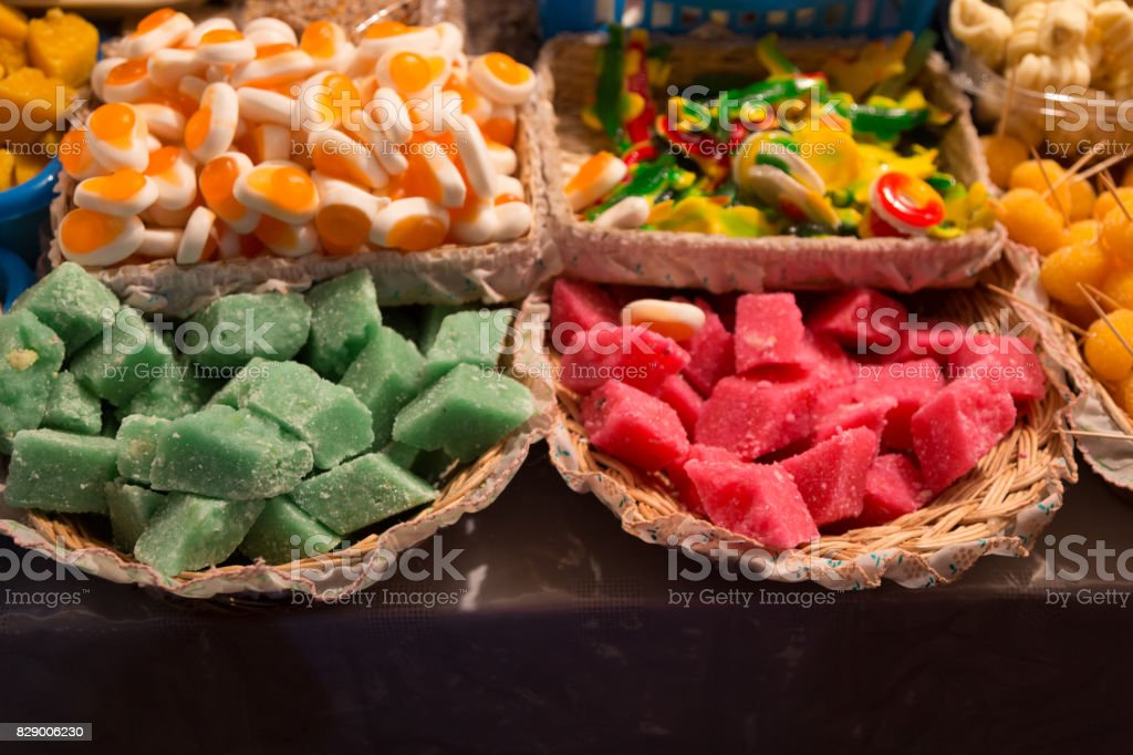Traditional sweets at Corpus Christi stock photo