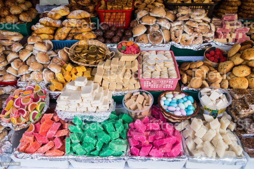 Traditional sweets in Ecuador stock photo