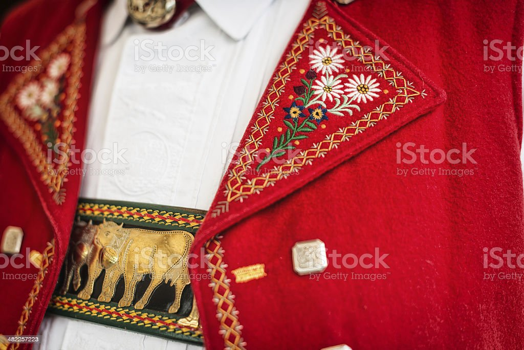 traditional swiss costume in Appenzell stock photo