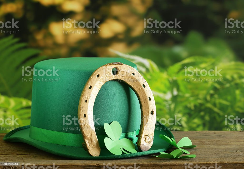 traditional symbols for Patrick's Day stock photo