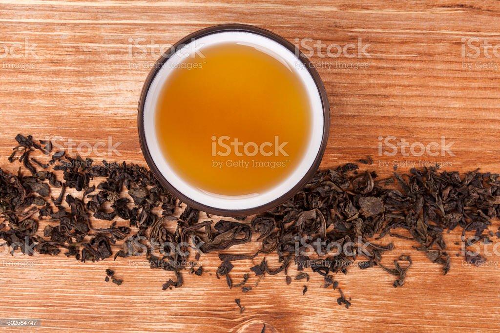Traditional tea background. stock photo