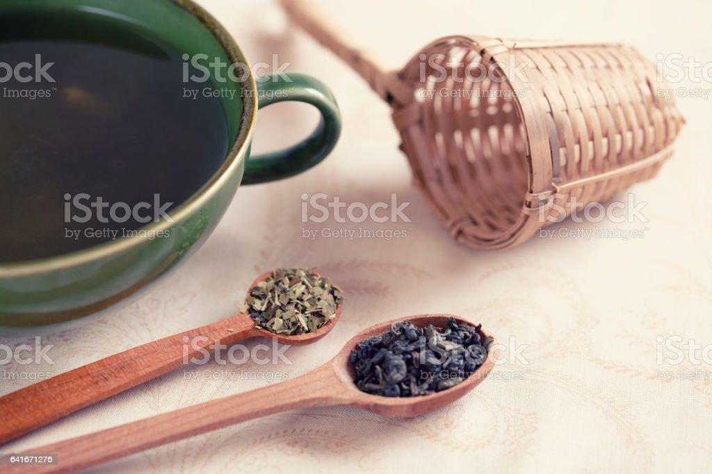 Traditional Tea Making stock photo