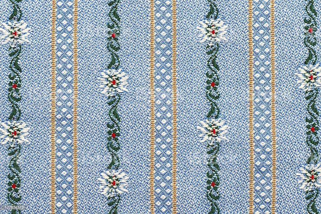 Traditional textile in Swiss Edelweiss pattern royalty-free stock photo