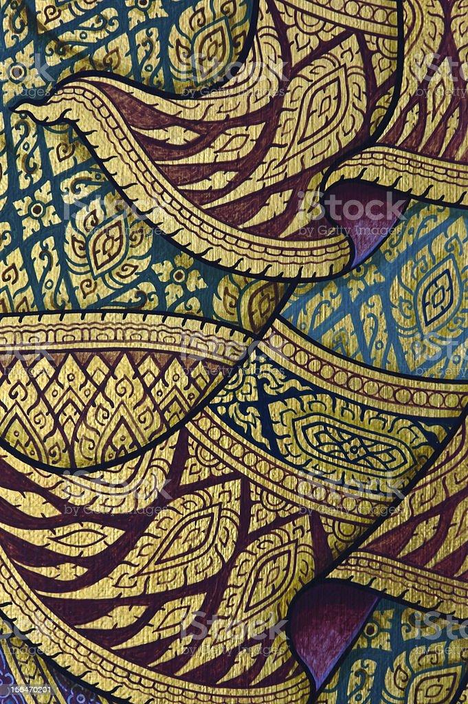 Traditional Thai art royalty-free stock photo