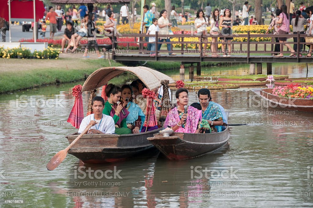 Traditional Thai Boats stock photo