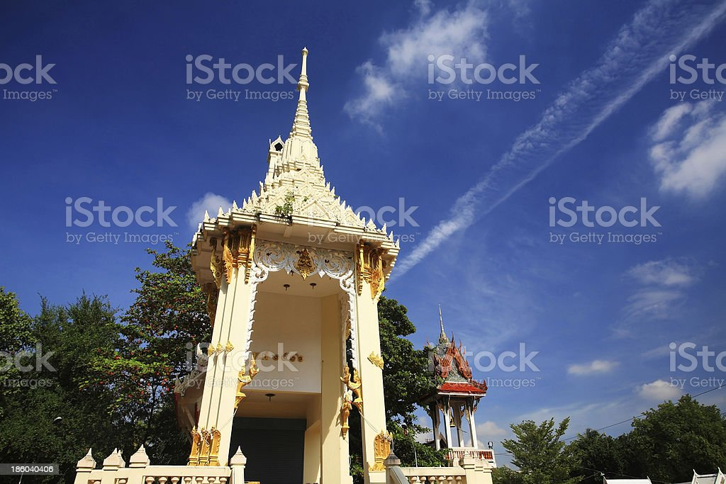 Traditional Thai crematory or pyre royalty-free stock photo