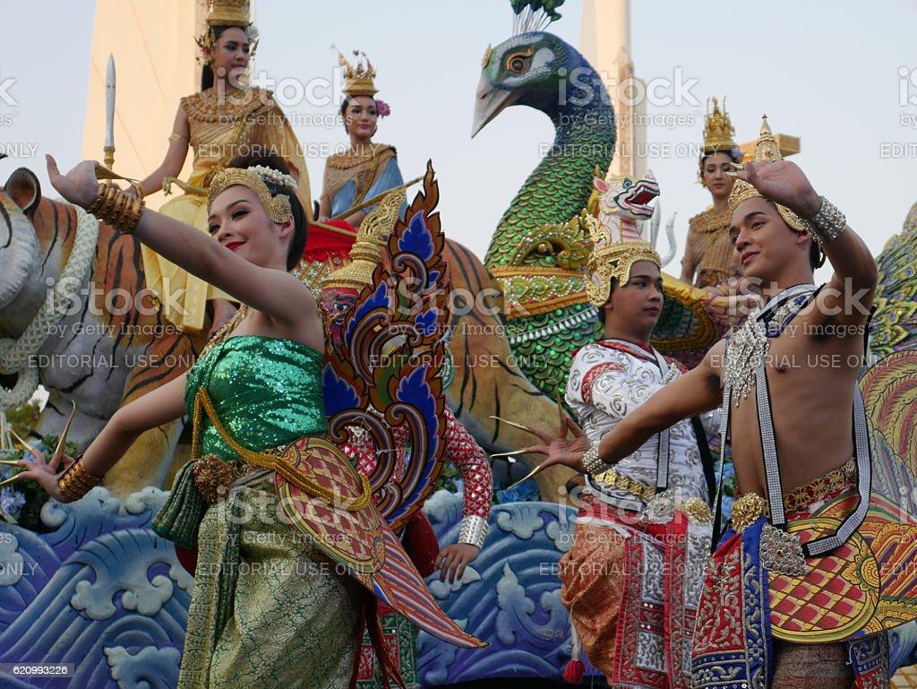 Traditional Thai dance stock photo