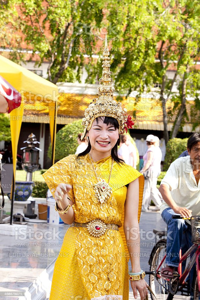 Traditional Thai Dancer royalty-free stock photo