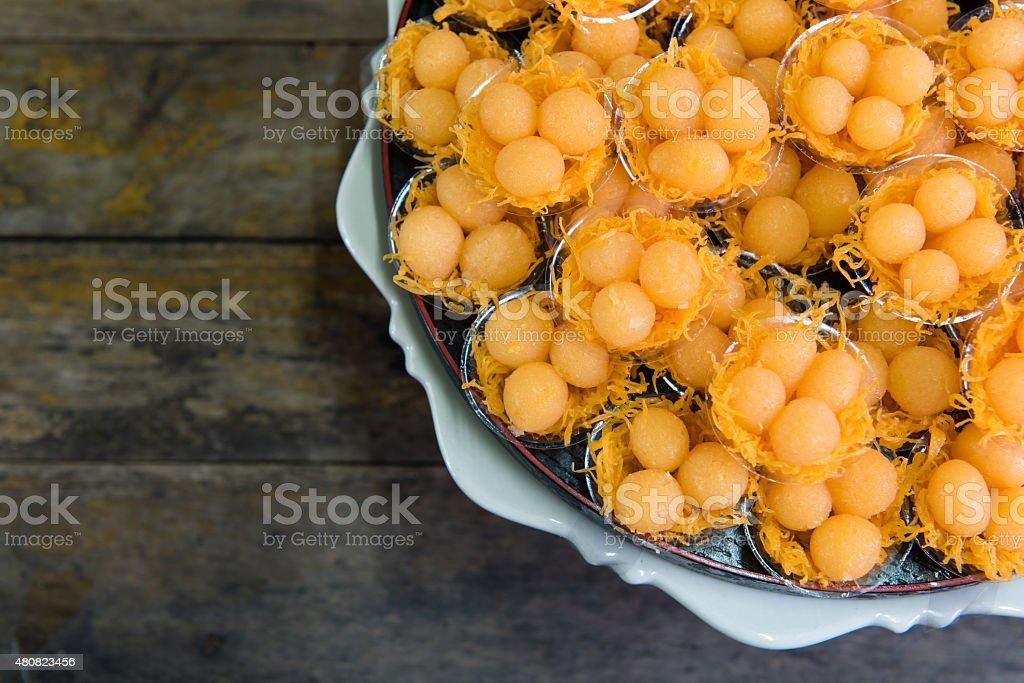 Traditional Thai Dessert stock photo