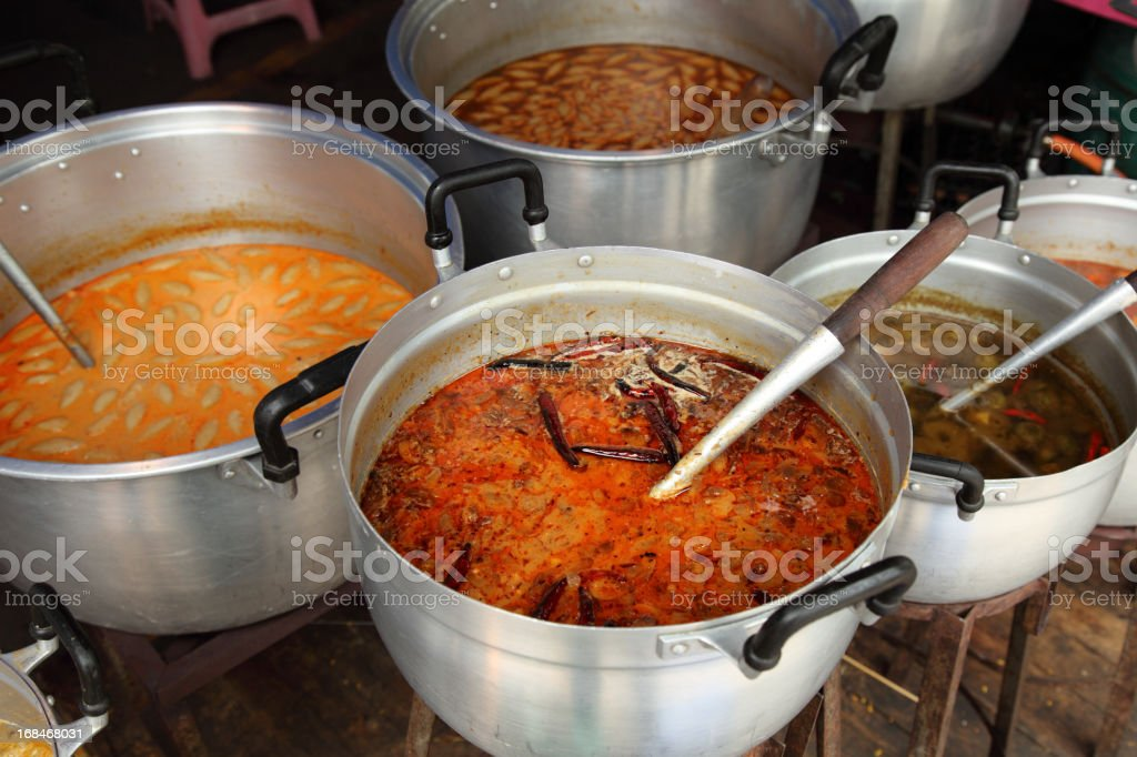 Traditional Thai dishes stock photo