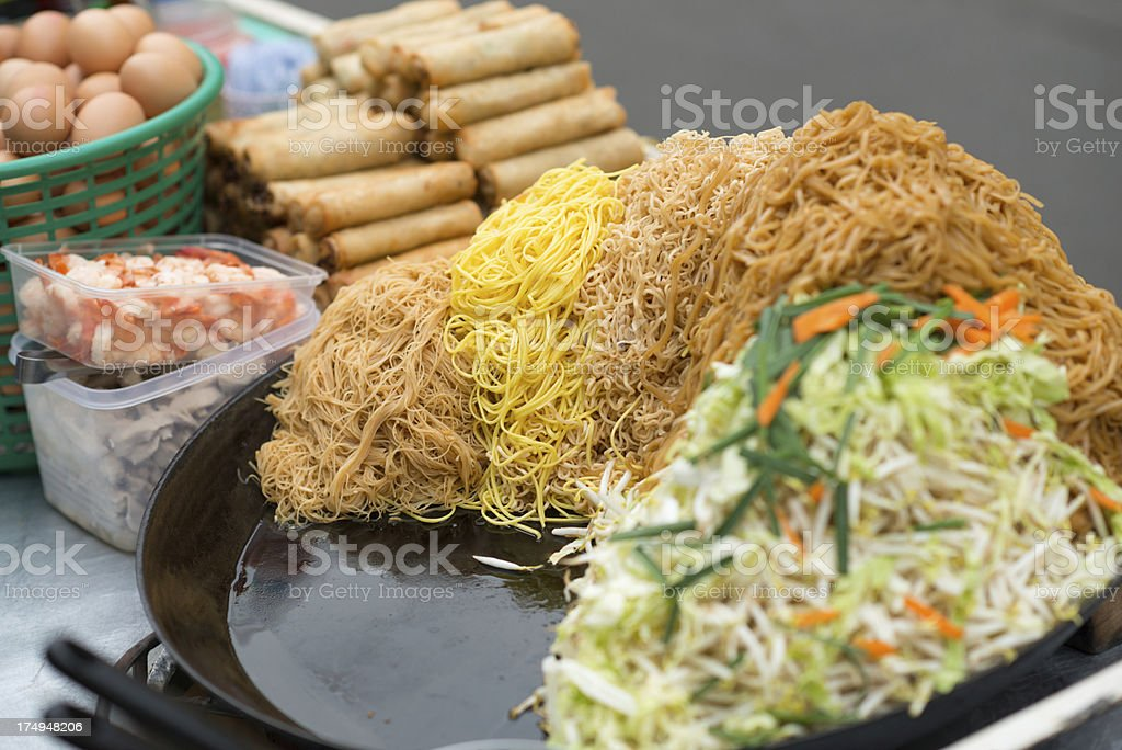 Traditional Thai Fast Food, Street Market royalty-free stock photo