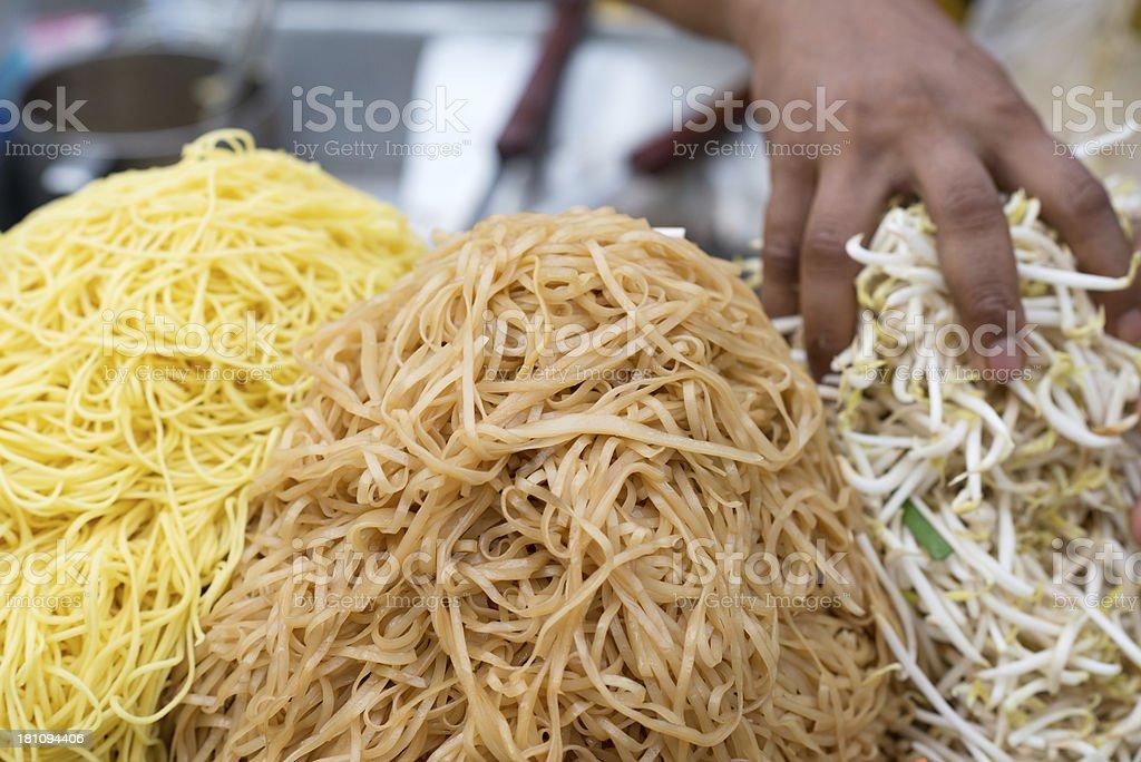 Traditional Thai Fast Food, Street Market stock photo