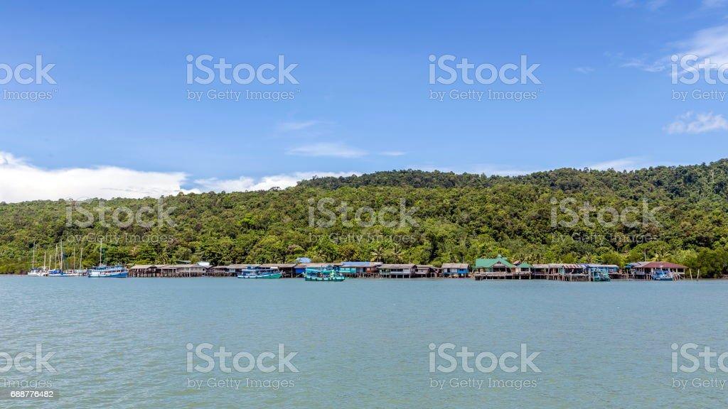 Traditional Thai fisherman's village stock photo