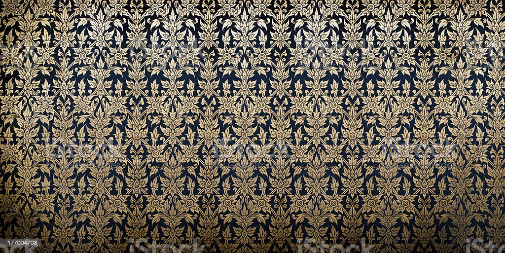 Traditional Thai Flower Pattern Background royalty-free stock photo