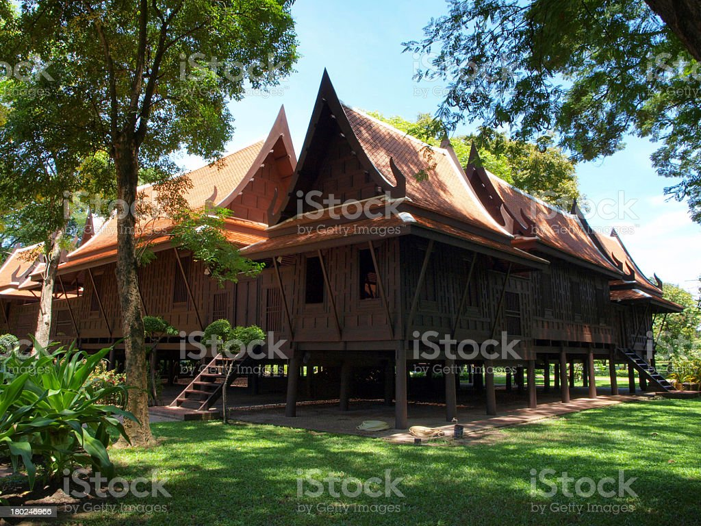 Traditional Thai houses. stock photo