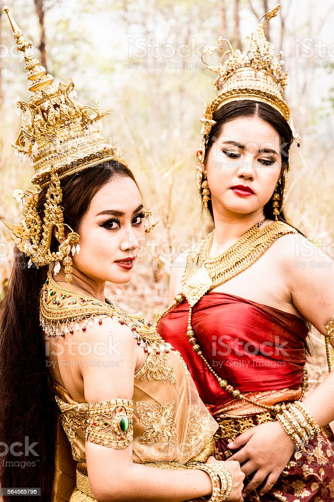 Traditional Thai Models stock photo