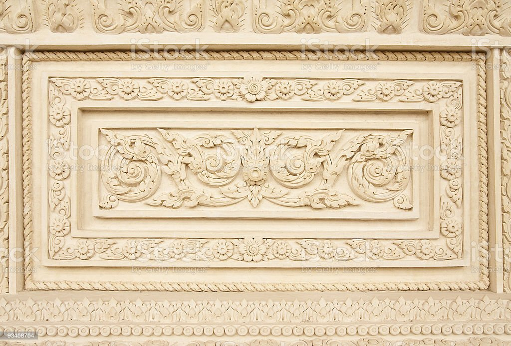 Traditional thai style molding art stock photo
