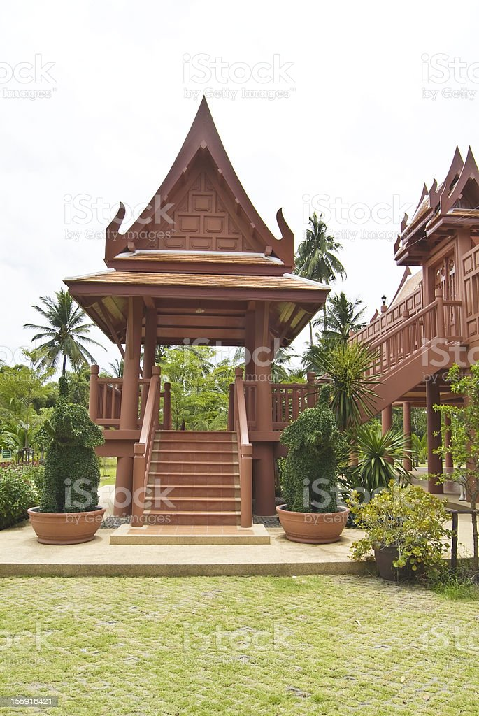 traditional Thai style royalty-free stock photo