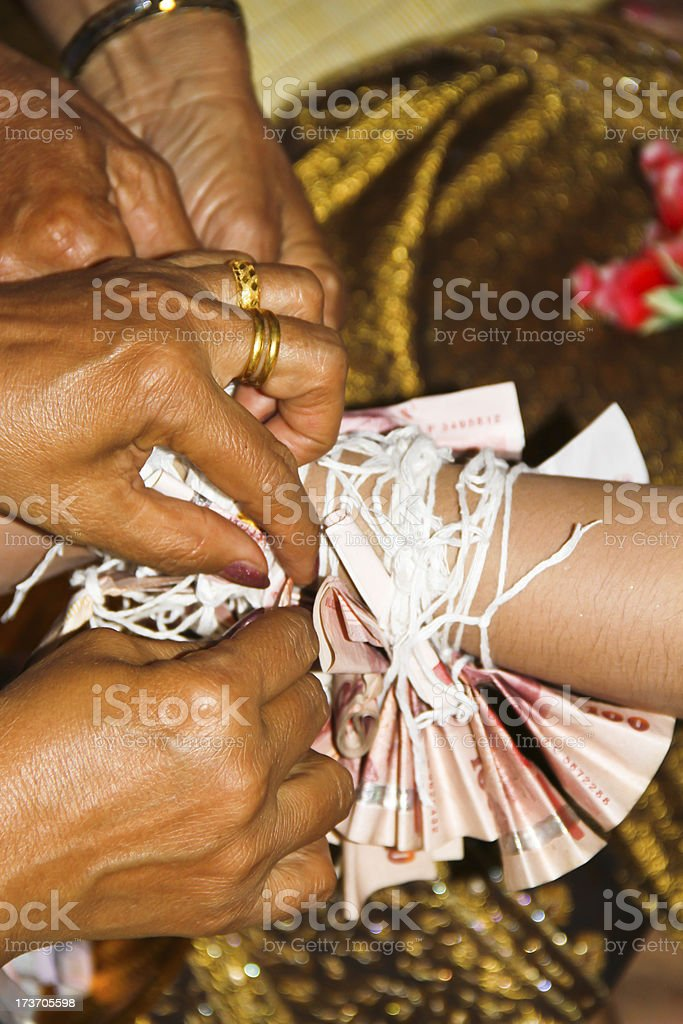 Traditional Thai wedding royalty-free stock photo