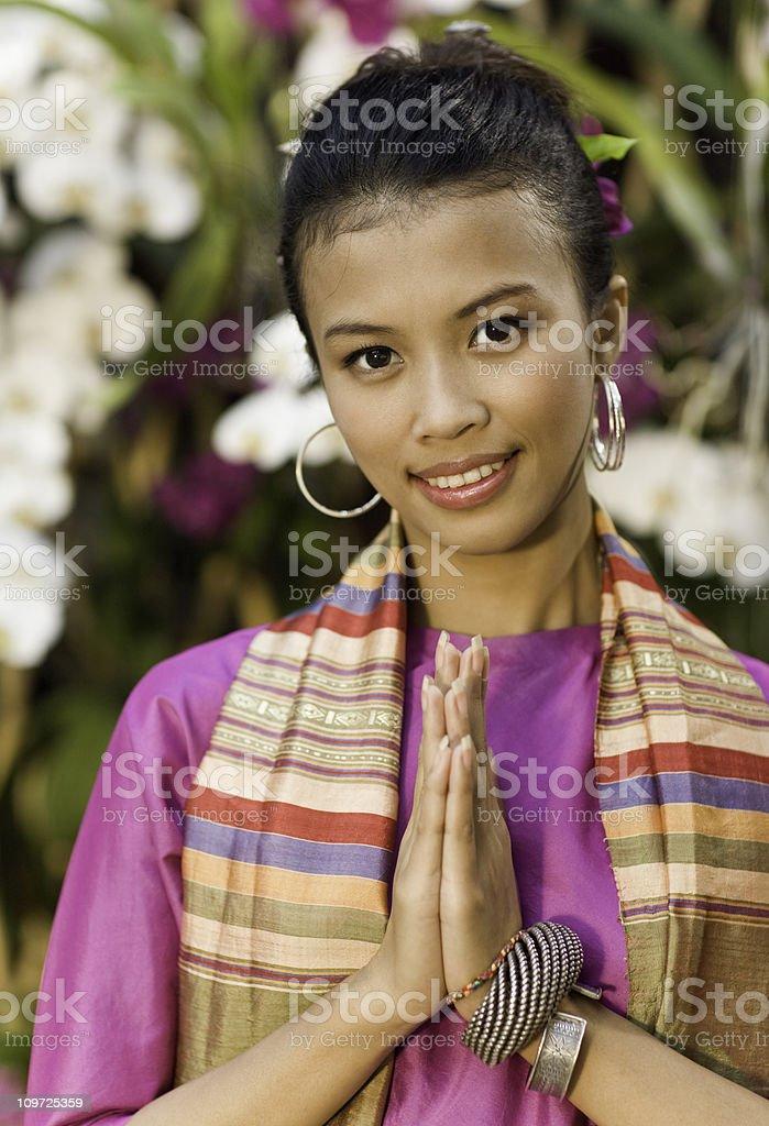 Traditional Thai Woman royalty-free stock photo