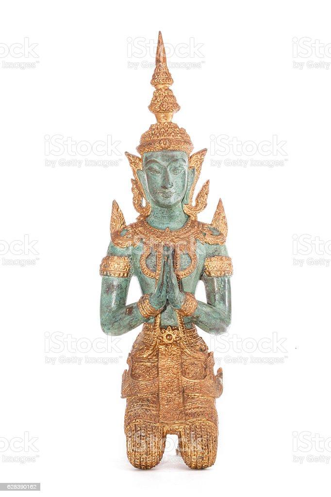 Traditional Thai Zen Buddhism statue stock photo
