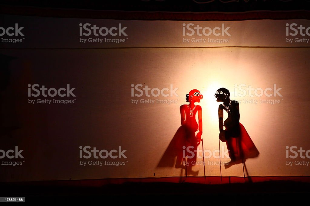Traditional Thailand Shadow Puppet Show stock photo