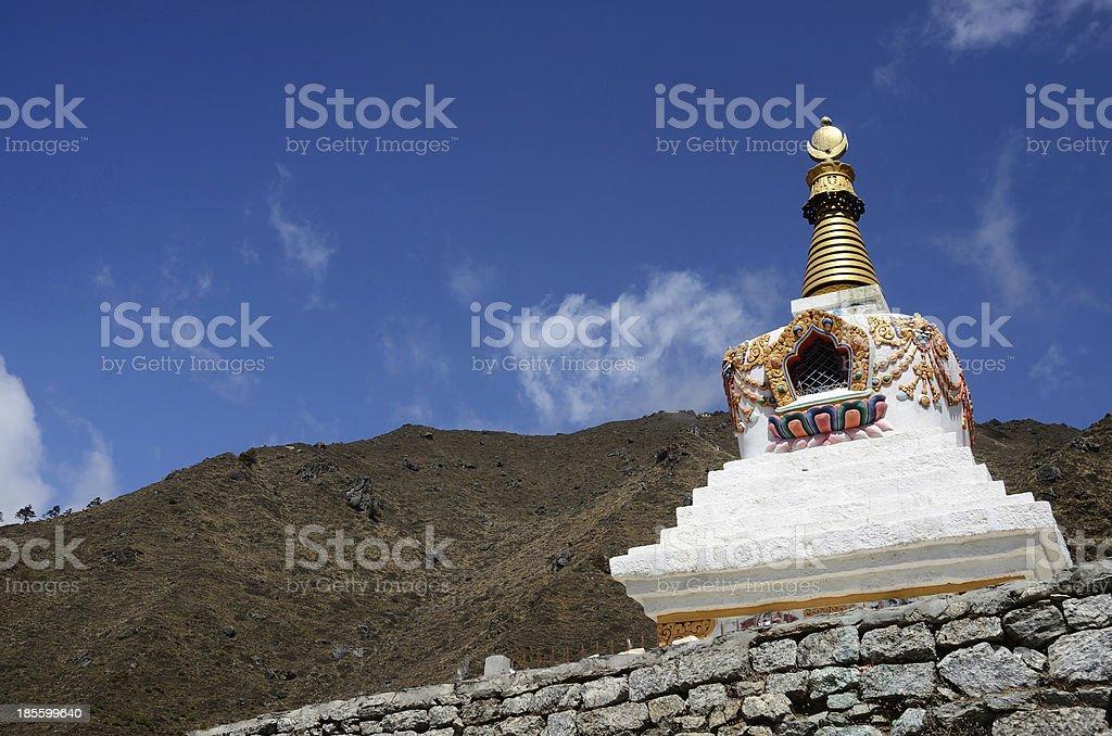 Traditional Tibetan stupa in Nepal,Asia stock photo