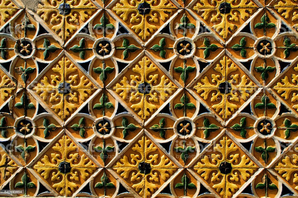 Traditional tile stock photo