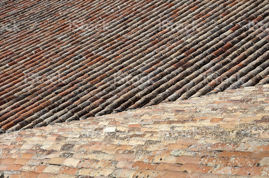 Traditional tiled roof royalty-free stock photo