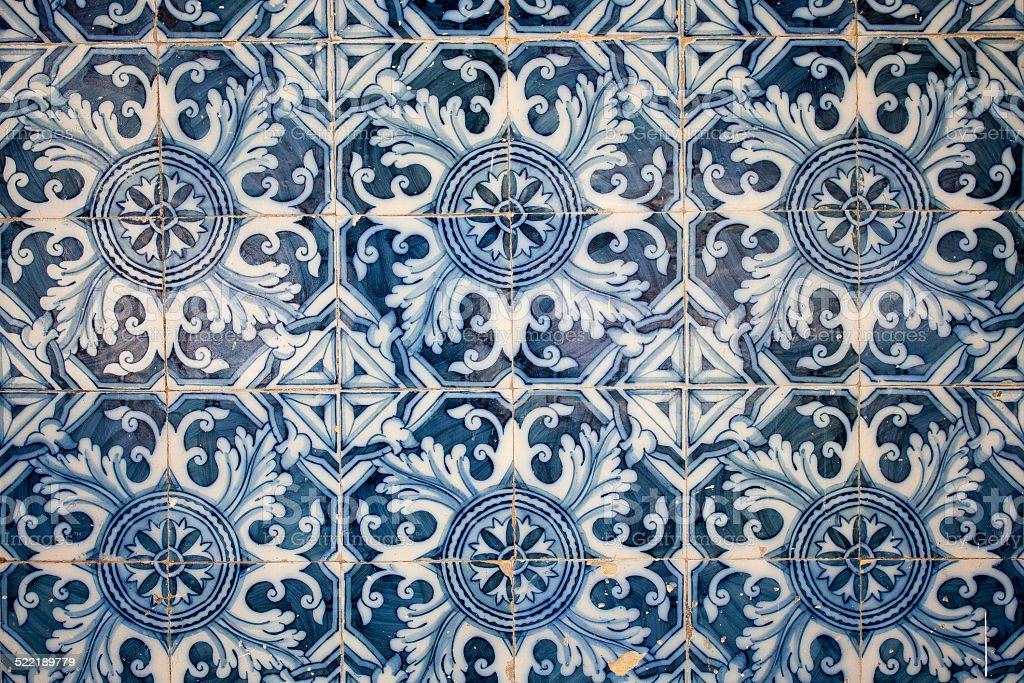 Traditional tiles (azulejos), Portugal stock photo