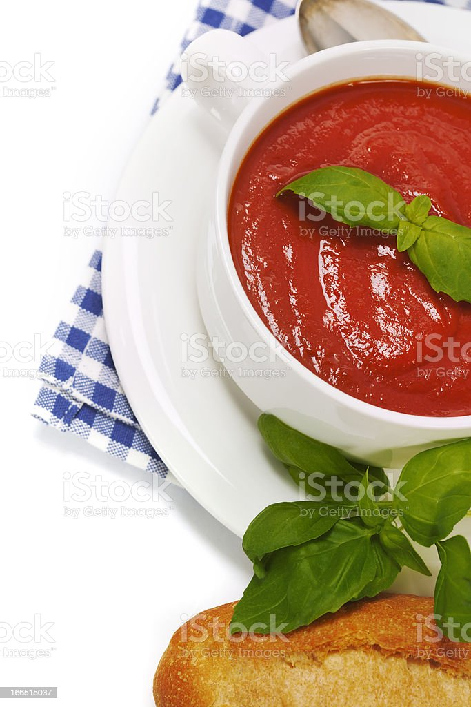 Traditional tomato soup royalty-free stock photo