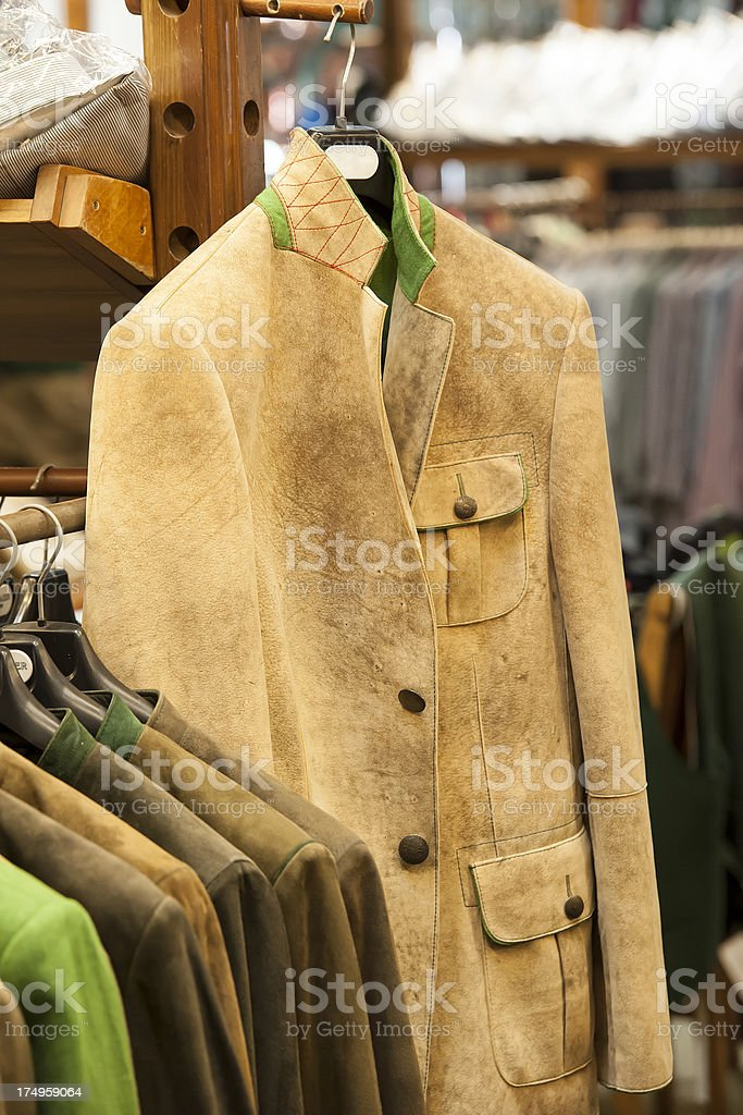 Traditional Tracht - Leather Jacket from Austria/Bavaria royalty-free stock photo