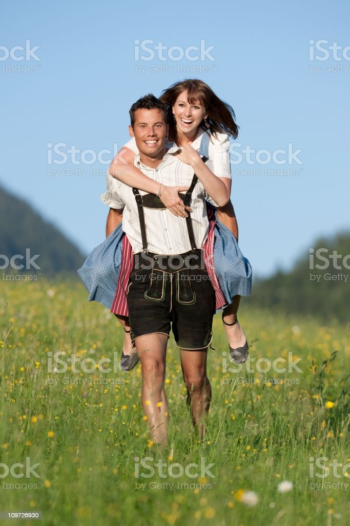Traditional Tracht, Summer Love royalty-free stock photo