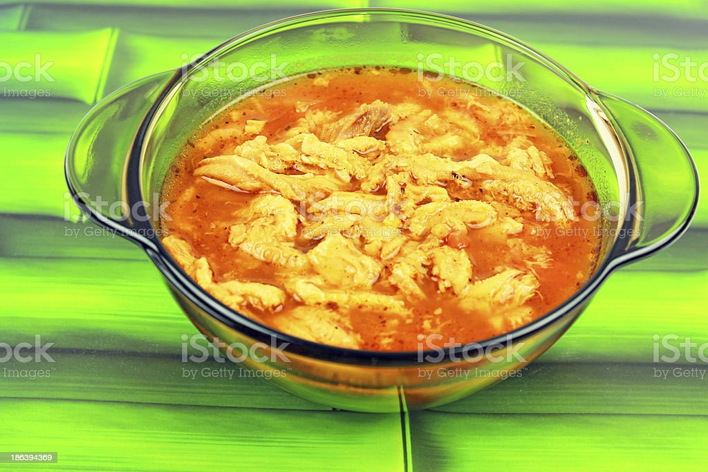Traditional tripe soup stock photo