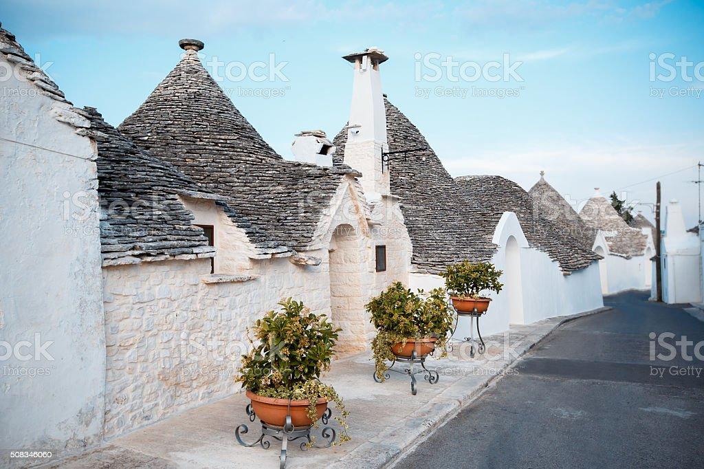 ALBEROBELLO, Traditional trulli houses in Alberobello, Italy stock photo