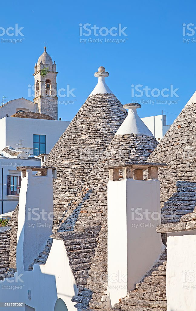 Traditional 'Trulli' houses stock photo